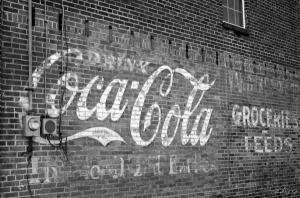 Coca-Cola Sign on Wall