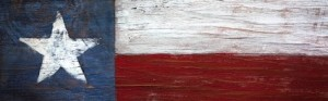 Texas Flag Painted on Wood - Cropped