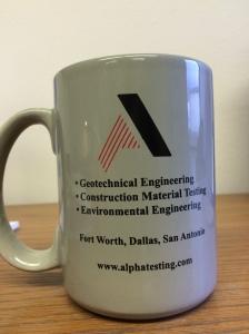 Alpha Testing Multi Line Logo Mug