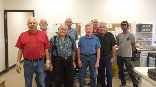 From Left to Right: Ray, Tafford, Carl, John, Dale, Dale, Tom, Raymond.  Not pictured: Rolf